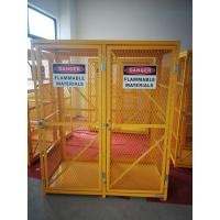 """71-3/4"""" X 60"""" X 30"""" Assembled Yellow Industrial Safety Cabinets Gas Cage Cylinder Storage Manufactures"""