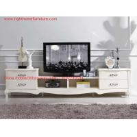 Ivory Classic TV stand wood furniture Audiovisual cabinet in White matt PU painting Manufactures