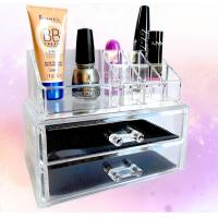 Cosmetic Custom Acrylic Products Multiple Display Makeup Box Case With Drawers Manufactures