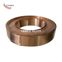 China Cu86Mn12Ni Precision Alloy Manganin Copper Alloy Strip Customized Size on sale