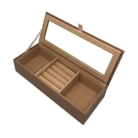 China PU Leather Hot Stamping Jewelry Gift Boxes For Necklace on sale
