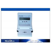 LCD Display Single Phase Electric Energy Meter , Tamper Proof Prepaid Power Meters Manufactures