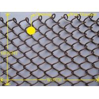 China Metalic Chain Link Wire Mesh , Hanging Room Mesh Screen CurtainUV Resistant on sale