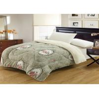 Printed Flannel Fleece Beautiful Comforter Sets Washable In Family And Hotel Manufactures