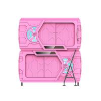 Pink Safe Space Capsule Bed Double - Deck Intelligent LED Light Manufactures