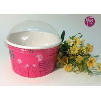 20oz Double PE Coated Frozen Yogurt Paper Cup With Plastic Lid Manufactures