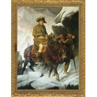 PAINTING Napoleon Crossing the Alps by Paul Delaroche Manufactures