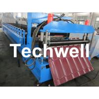 Chain Drive Tile Roll Forming Machine With Hydraulic Pressing Cutting Devices Manufactures