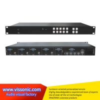 4x1 Multi Viewer Video Scaler Switcher With KVM Control For Video / Animation Manufactures