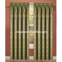 polyester embroidery curtain with fashion valance, window curtain Manufactures
