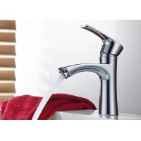 China Single Handle Vessel Vanity Bathroom Sink Faucets ROVATE Chrome Finished on sale
