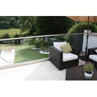 Exterior aluminum u base channel glass railing for balcony use Manufactures