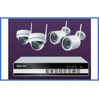4CH 720P / 1080P Wireless CCTV Camera Kits Support Ipad Smart Phone Onvif Manufactures