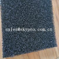 Air filter sponge sheet black polyurethane 20ppi foam sheet reticulated polyurethane filter foam Manufactures