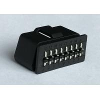 RoHS Standard Obd2 Scanner Connector / Male Plug Connector With Curved Pins