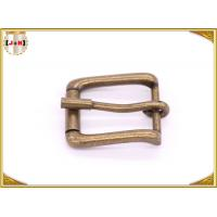 Antique Brass Rolling Custom Metal Bag Buckle , Handbag Making Accessories Manufactures