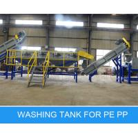 CE PE Film Washing Line , Waste Plastic Pp Pe Recycling Line 1500kg Per Hour Manufactures