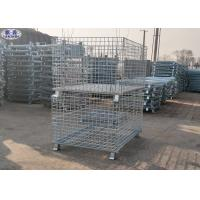 Foldable Lockable Metal Wire Mesh Pallet Cages for Transportation Manufactures
