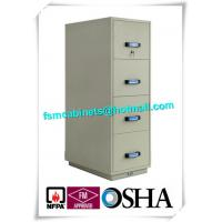 Steel Fireproof File Cabinets 4 Drawer For Important Papers / Medium / Data Manufactures