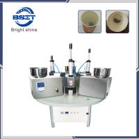 Manual China SS304  tea cup packing machine for  disposable paper cup with filter paper Manufactures