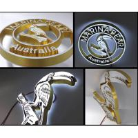 China Front & Back Lit 3d wall letters With Customized Logo / Acrylic Letters For Outdoor Signs on sale