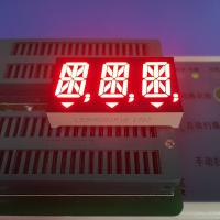 Ultra Red Triple Digit 14 Segment Led Display For Medical Instrument , 14 Seg Display Manufactures