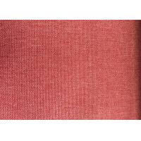 Red Blackout Curtain Lining Fabric Plain Anti-Static For Home Manufactures