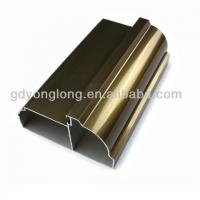 China Guangdong 6063 Customized Champagne Aluminium Kitchen Profile Extruded Kitchen Cabinet Furnitures In Different Surface on sale
