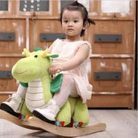 Personalized Stuffed Animal Rocking Chair , Plush Rocking Dragon Ride On Toy Manufactures