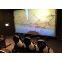Professional 5D Cinema System With Large Screen , Black Leather Seats Manufactures