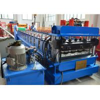 1.2 Inch Single Chain Drive Glazed Tile Roll Forming Machine With Material  Width 1000mm Manufactures