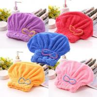 coral fleece hair-drying towel cap Hair Wraps/Magic Fast Dry Towel Manufactures