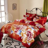 Luxury 9 Pieces Home Bedding Comforter Sets Double Full Size Red Color Manufactures