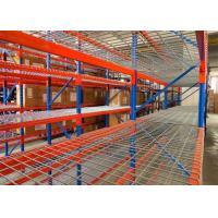 China Strong structural box beam heavy duty pallet racking with wire mesh decking on sale