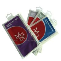 China Printed Plastic Hanger Bags For Garment And Towel Packaging on sale