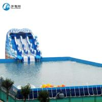 Large Water Amusement Park Equipment Swimming Pool Frame Pool Blue Color