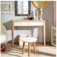 Natural Light Wood Computer Desk Durable With Solid Wood Legs Manufactures