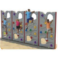 Customized Color Kids Plastic Climbing Wall For Park Environmental Protection Manufactures