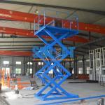1T Stationary Hydraulic Scissor Lift Elevator , Pallet Scissor Lift Platforms Manufactures