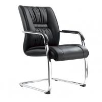 Genuine Leather Office Furniture Reception Desk Chair No Wheels Office Furniture Manufactures