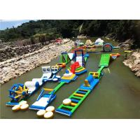 PVC Inflatable Aqua Park With Obstacles Anti - UV Heat Resistance Material Manufactures