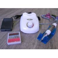 China White Color Professional Nail Drill Machine / Electric Acrylic Nail Drill on sale
