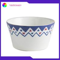 5.5 Inch Handmade Porcelain Bowls , Hand Painted Ceramic Bowls Stoneware Manufactures