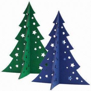 Medium Christmas Tree in 5mm Felt, Laser-cut of Size 30 x 25.3cm Manufactures