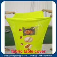 Quality Custom Stretch Fabric Table Cover with Printing for sale