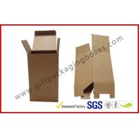 China E / F Flute Custom Folded Corrugated Paper Box , White / Brown Cartons Packing Boxes in Shop on sale