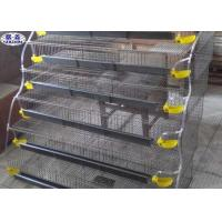 Quality Galvanized Steel Wire Quail Cages 6 Tiers Layers 1.8m Length Long Lifetime for sale