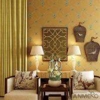 New Arrival Yellow 0.53*10M Suede Wallpaper Germetric Pattern Elegant Home Decoration Manufactures