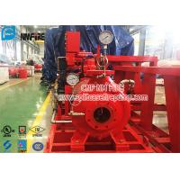 Single Stage Horizontal Centrifugal End Suction Fire Pump Set With Diesel Engine With UL / FM Listed Manufactures