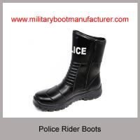 Wholesale China Military Grade Police Officer Rider Boots With Full Grain NAPPA Leather PU Rubber Dual Density Outsole Manufactures